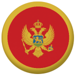 Montenegro Country Flag 25mm Flat Back